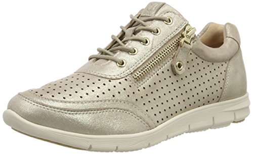 Caprice Damen 23601 Oxfords Beige (Beige Metallic 424)
