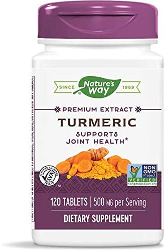 Nature s Way Premium Turmeric, 500mg per Serving, 120 Tablets Pack of 2