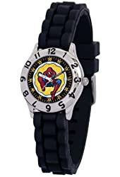Marvel Kid's MA0103-D2784-BlackRubber Marvel Spider-Man Classic Time Teacher Watch