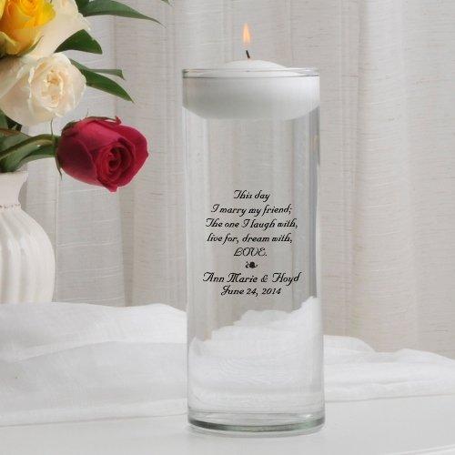 Personalized Floating Wedding Unity Candle - Personalized Wedding Candle - Monogrammed Wedding Unity Candle - This Day - Personalized Wedding Unity Candle