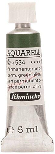 Schmincke 14534001 Horadam Artists Watercolors Permanent Green Olive 5 ml Tube (Series 2)