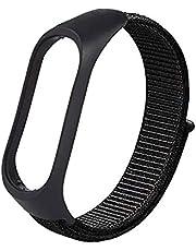 Nylon Wristband Strap for Xiaomi Band 5 Black