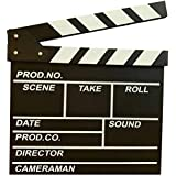 BERON Professional Vintage TV Movie Film Clap Board Slate Cut Prop Director Clapper (Black)