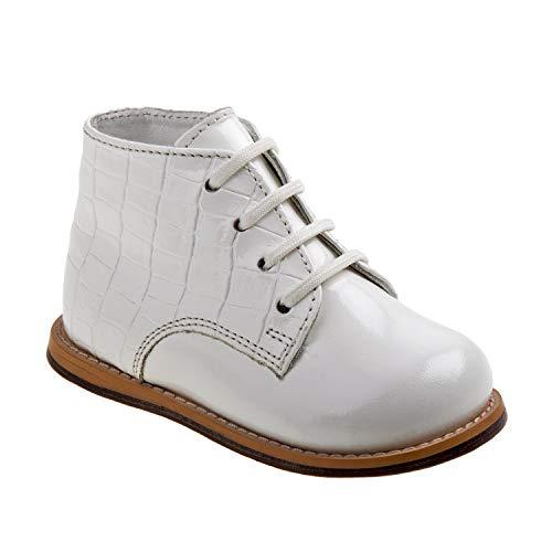 Josmo 2-8 Patent Croco Walking Shoes (White Patent Croco, 4.5)