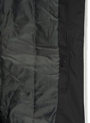 Giubotto 9000 Uomo Di Piumini Mezza Tilden solid Black Cappuccio Giacca Con Stagione Da YxHWBFq