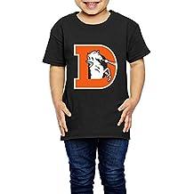 AK79 Kids 2-6 Years Old Boys And Girls Denver D Logo Broncos T Shirt Black