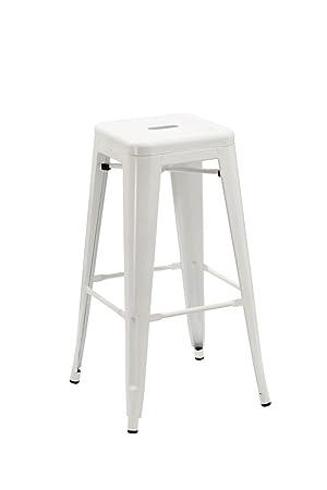 amazon tabouret de bar duhome tabouret de bar en mtal fer empilable blanc design industriel. Black Bedroom Furniture Sets. Home Design Ideas