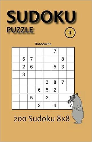 Book Sudoku Puzzle 4: 200 Sudoku 8x8