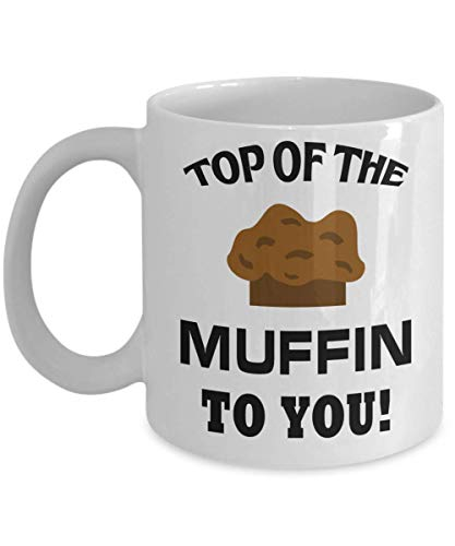 Seinfeld Mug - Top Of The Muffin To You Coffee Mug, Funny, Cup, Tea, Gift For Christmas, Father's day, Xmas, Dad, Anniversary, Mother's day, Papa, - Top Mr Muffin