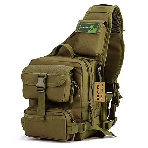 Huntvp Tactical Military Daypack Sling Chest Pack Bag Molle Backpack Large Shoulder Bag Crossbody Duty Gear for Hunting Camping Trekking