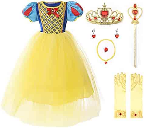 ac623aafeab9 JerrisApparel Girl Classic Snow White Princess Costume Fancy Dress for  Christmas