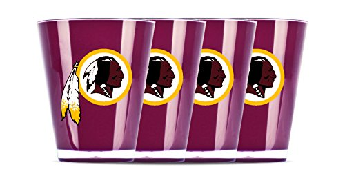 NFL Washington Redskins Insulated Acrylic Shot Glass Set of 4