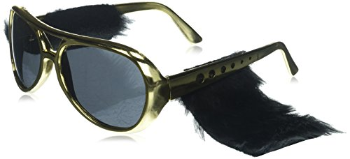 Forum Novelties 58211 Rock N Roll Glasses with Sideburn
