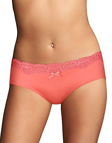 Maidenform Women's Comfort Devotion Embellished Hipster Panty, Coral Punch, 8