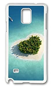 Adorable Heart shaped at sea Hard Case Protective Shell Cell Phone Iphone 4/4S - PC White