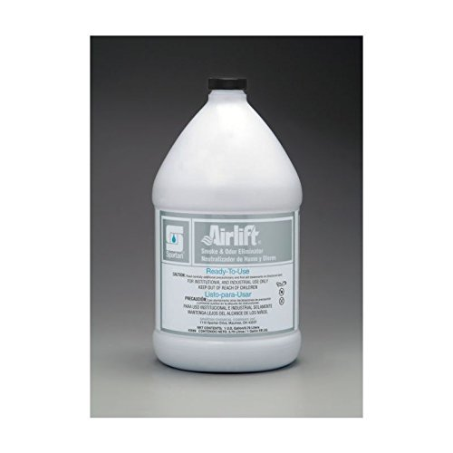 Spartan Airlift Smoke and Odor Eliminator, Neutral, Gallons,4 Per Case