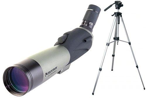 Celestron Ultima 80mm Angled Spotting Scope, Olive Green/Black w/Tripod 93606