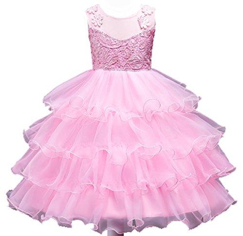 De D'honneur Fête 152 1 Agogo Tulle Demoiselle 116 Ballon Court Fleur Soir Princesse 128 146 140 Floral Bal 164 104 Fille Taille Et Rose Dentelle 134 Robe rFgXWXIn