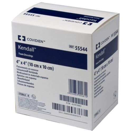 Covidien 55548 Kendall Wound Dressing, Hydrophilic Foam, 4'' x 8'' Size (Pack of 10) by COVIDIEN