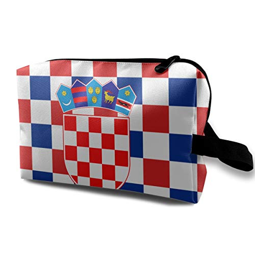 (Coat Arms Croatia Portable Make-up Receive Bag Hand Cosmetic Bag Makeup Bag Sewing Kit Medicine Bag )