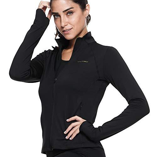 VUTRU Women's Sports Track Jacket Full Zip Sweatshirts Lightweight Thin Yoga Workout Jacket L
