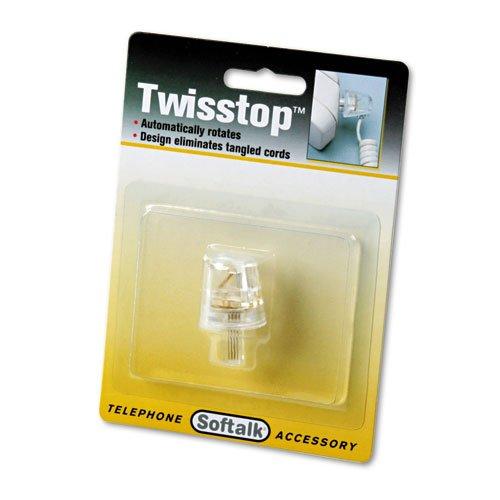 Detangler Twisstop (Softalk 1500 Twisstop Rotating Phone Cord Detangler, Clear)