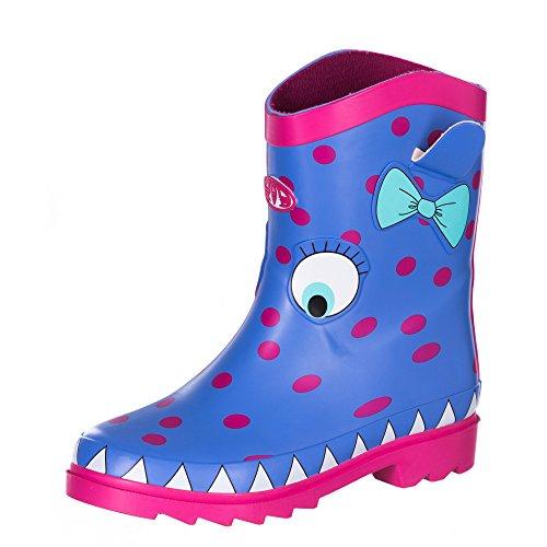Animal Girl's Boo Wellington Boots - Persian Blue-UK 3