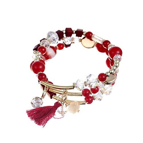 Youthern New Factory Red Color Pendant Bracelets Bangles Fashion Women Bracelet