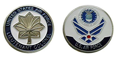 "Air Force Officer Ranks - Lieutenant Colonel ""O - 5"" Collectible Challenge Coin /Logo Poker / Lucky Chip/ Gift"