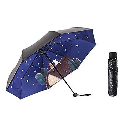 Paraguas plegable automatico Mujer niño Hombre an- Tres sombrillas Plegables Ultraligero - Protección Solar UV