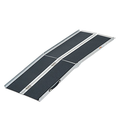 (HomCom 6' Aluminum Portable Multifold Suitcase Wheelchair Ramp)