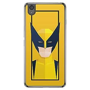 Loud Universe Oneplus X Super Heroes Wolverine Triangular Printed Transparent Edge Case - Yellow