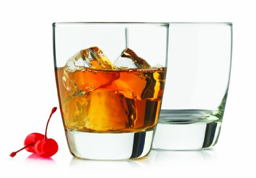 Libbey 4-Piece Classic Heavy Base Old Fashioned Glasses, 13-Ounce, Clear