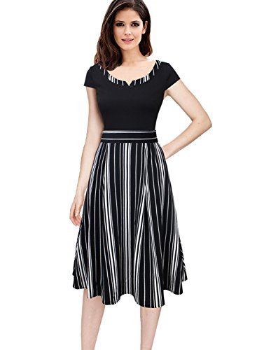 VFSHOW Womens Summer Pockets Work Business Office Casual A-Line Dress 456 STP M by VFSHOW