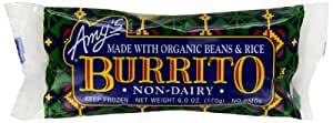 Amy's, Bean and Rice Burrito, Dairy Free, 6 oz (Frozen)