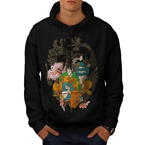 [Horror Geisha Skull Evil Japan Men S Hoodie | Wellcoda] (Gothic China Doll Costume)