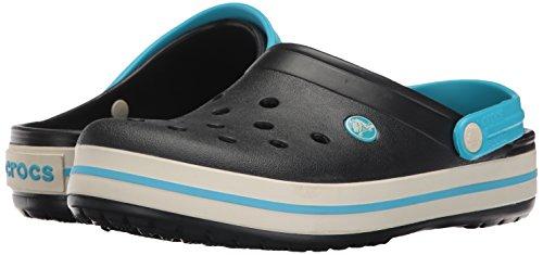 Crocs Crocband Clog, Zuecos con Correa, Unisex Black/Stucco