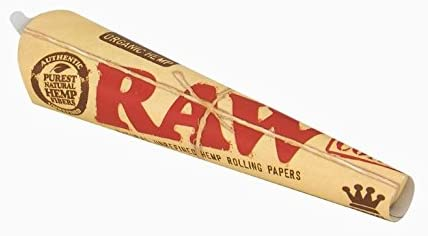 RAW Organic Hemp conos Tamaño King, pre-enrollados papeles – Pack ...