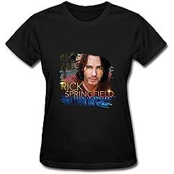 DA Rock Singers Rick Springfield Tour 2015 Concert T Shirt For Women Black XXL