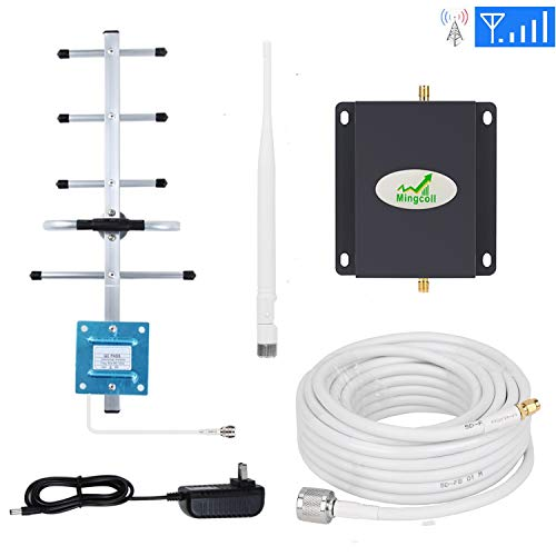 Mingcoll at&T Cell Phone Signal Booster 700MHz Band 12/17 Cell Signal Amplifier FDD 4G LTE ATT T-Mobile Mobile Signal Repeater Booster for Home and Office - Consumer Cellular Phone Home