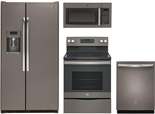 GE 4-Piece Slate Kitchen Package with 36