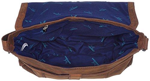 BagBorse A UnisexAdulto Brown Messenger Marronedark Sansibar Tracolla 6yYbf7gv