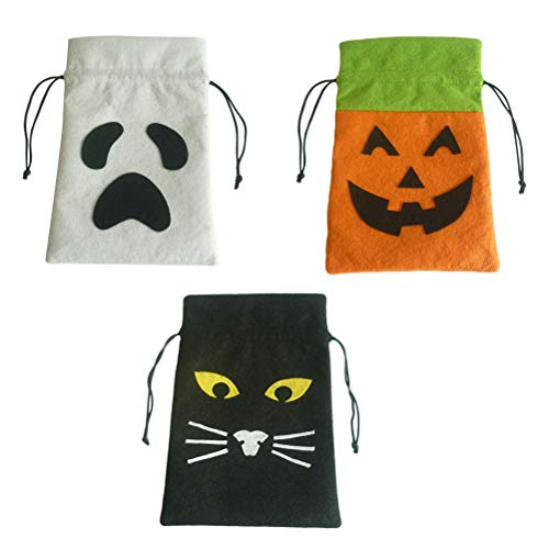 Toyvian 6PCS Happy Halloween Candy Handbag Cloth Children Gift -