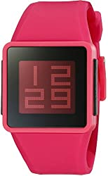 Nixon Men's A137-220-00 Newton Digital Display Japanese Automatic Red Watch