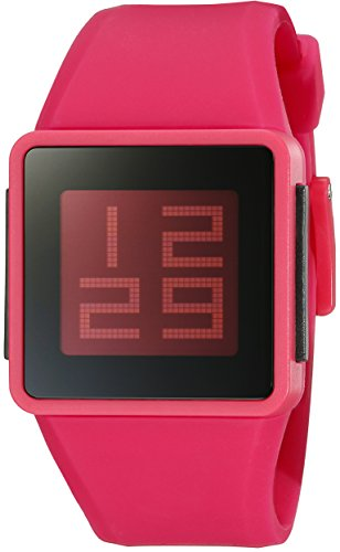 Nixon Men's A137-220-00 Newton Digital Display Japanese Automatic Red Watch (Rubber A137)