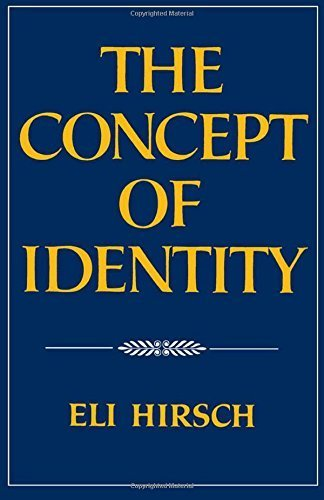 The Concept of Identity by Eli Hirsch (1992-02-20)