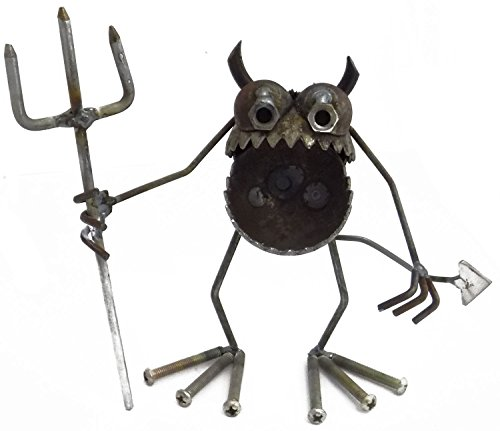 Welded Metal Art Gnome Be Gone Mini Devil