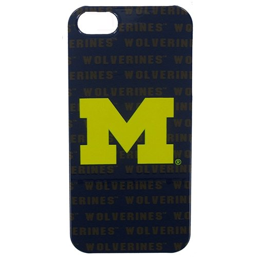 Michigan Wolverines Graphics Licensed NCAA for Apple iPhone 5 Faceplate Hard Back Protector Case Snap On Cover fits Sprint, Verizon, AT&T Wireless