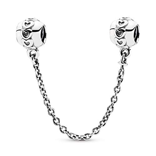 PANDORA Love Connection Safety Chain Charm, Sterling Silver, 2 IN from PANDORA