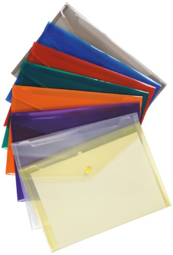 5 Star Premier Envelope Wallet Polypropylene A4 Translucent Assorted (Pack of 25)